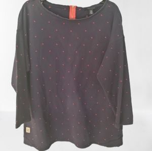 Tommy Hilfiger Polka Dot Sweatshirt Casual Top XXL